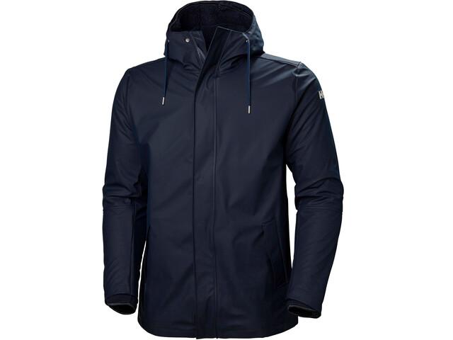 Helly Hansen Moss Insulated Rain Coat Men, navy